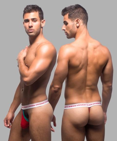 7a49f4127 ANDREW CHRISTIAN Almost Naked Stocking Stuffer Thong M - 390,- Kč ...